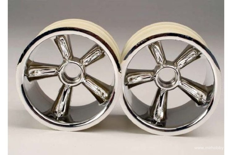 TRX Pro-Star chrome wheels (2) (front) (for 2.2'' tires) артикул TRA4174