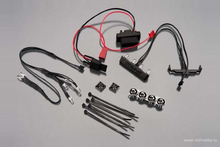 LED light kit, 1/16th Summit (power supply, chrome lightbar, roof light harness (4 clear, 2 red), ch артикул TRA7285