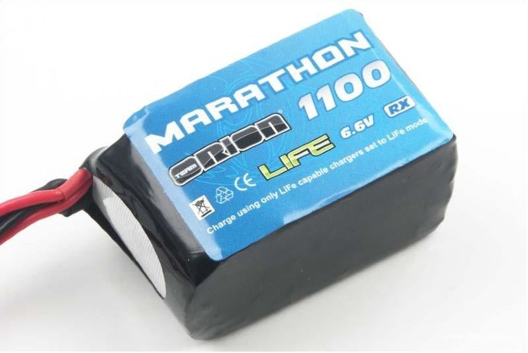 Аккумулятор (Team Orion Batteries Marathon Life Hump RX Pack Team Orion LiFe 6,6В(2s) 1100mAh Soft Case BEC/JST) артикул ORI12258