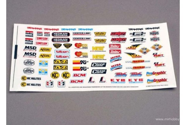 TRAXXAS Decal sheet, racing sponsors артикул TRA2514