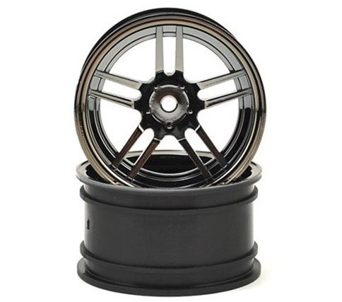"Диски TRAXXAS Wheels 1.9"", под резину арт.TRA8370, HEX 12mm split-spoke (black chrome) (wide, rear) (2) артикул TRA8372"