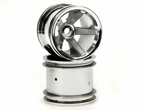 Диски трак 1/10 - SUPER STAR MT (CHROME/ REAR/DEEP OFFSET) 2шт. артикул HPI-2160